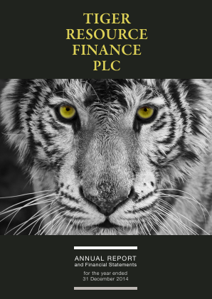 Tiger Resource Finance annual report 2014