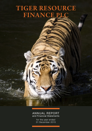 Tiger Resource Finance annual report 2015