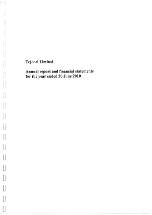 Tejoori annual report 2010