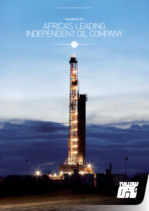 Tullow Oil Plc annual report 2012
