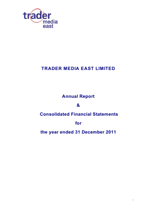 Trader Media East annual report 2011