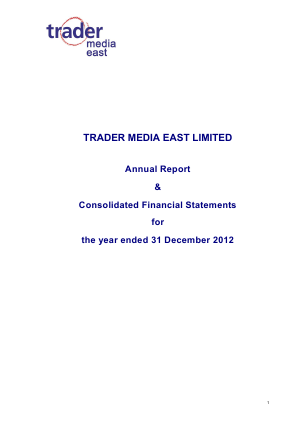 Trader Media East annual report 2012