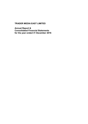 Trader Media East annual report 2016