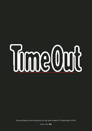 Time Out Group annual report 2016