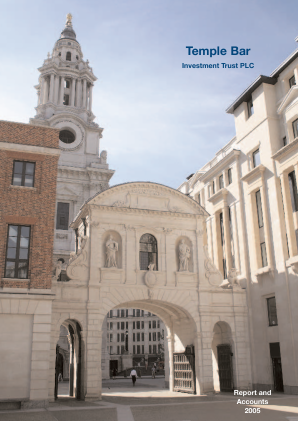 Temple Bar Investment Trust annual report 2005