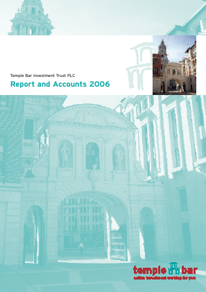 Temple Bar Investment Trust annual report 2006