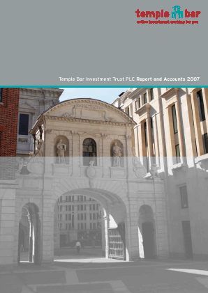 Temple Bar Investment Trust annual report 2007