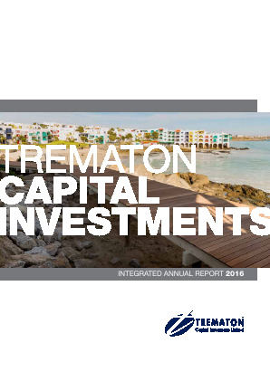 Trematon Capital Investments annual report 2016