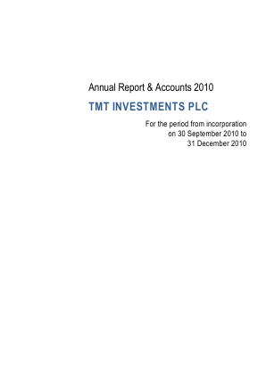 TMT Investments Plc annual report 2010