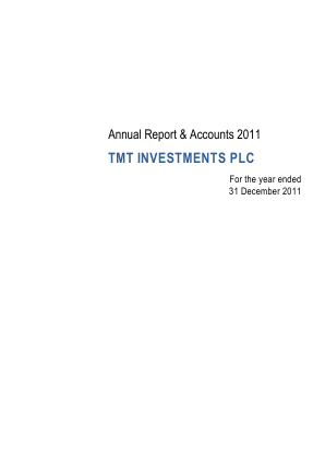 TMT Investments Plc annual report 2011