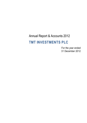TMT Investments Plc annual report 2012