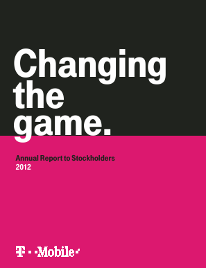 T-Mobile US, Inc. annual report 2012