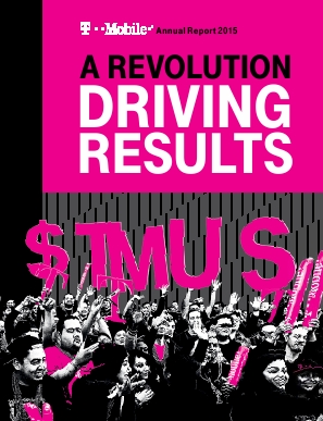 T-Mobile US, Inc. annual report 2015