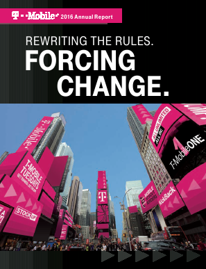 T-Mobile US, Inc. annual report 2016
