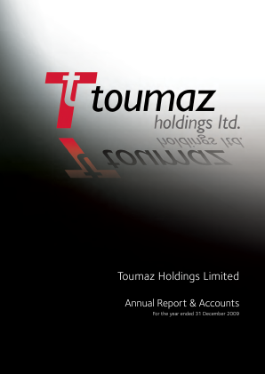 Frontier Smart Technologies (Formally Toumaz) annual report 2009