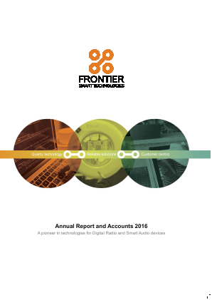 Frontier Smart Technologies (Formally Toumaz) annual report 2016