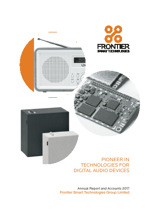 Frontier Smart Technologies (Formally Toumaz) annual report 2017