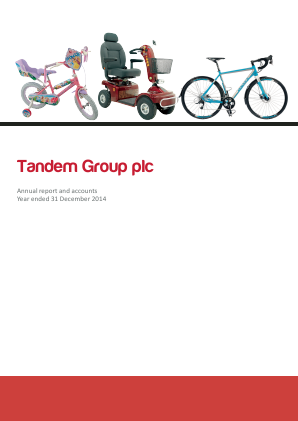 Tandem Group annual report 2014