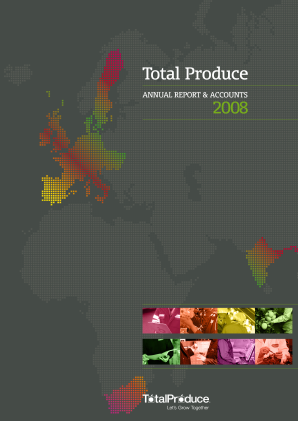 Total Produce Plc annual report 2008