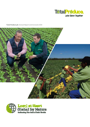 Total Produce Plc annual report 2014