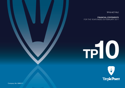 TP10 VCT Plc annual report 2011