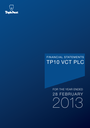 TP10 VCT Plc annual report 2013