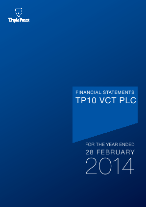 TP10 VCT Plc annual report 2014