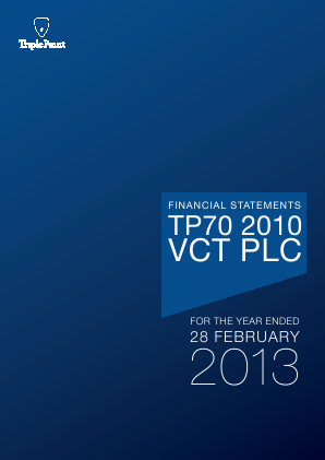 TP70 2010 VCT Plc annual report 2013