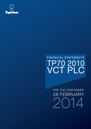 TP70 2010 VCT Plc annual report 2014