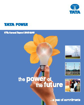 Tata Power Co annual report 2006