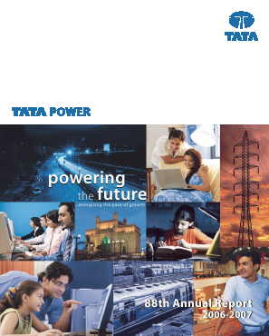 Tata Power Co annual report 2007