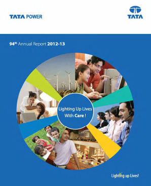 Tata Power Co annual report 2013