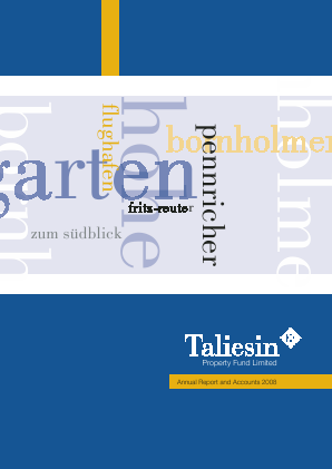 Taliesin Property Fund annual report 2008