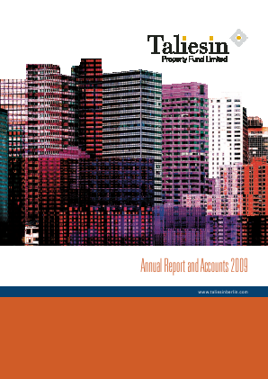 Taliesin Property Fund annual report 2009