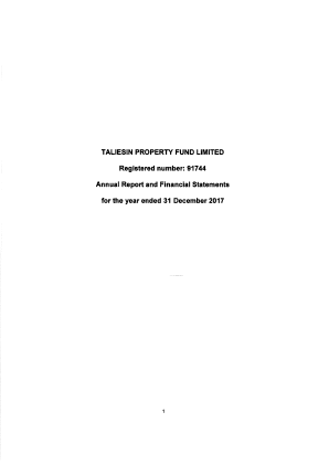 Taliesin Property Fund annual report 2017