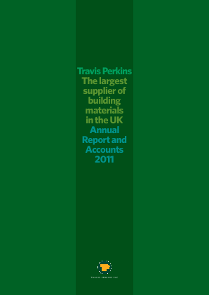 Travis Perkins annual report 2011