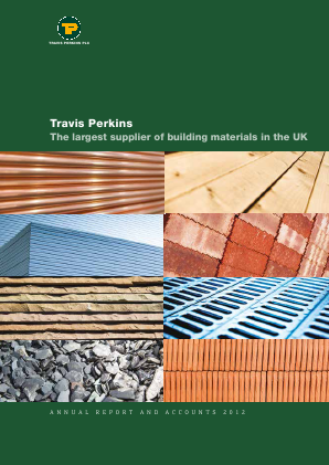 Travis Perkins annual report 2012