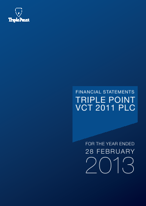 Triple Point VCT 2011 Plc annual report 2013