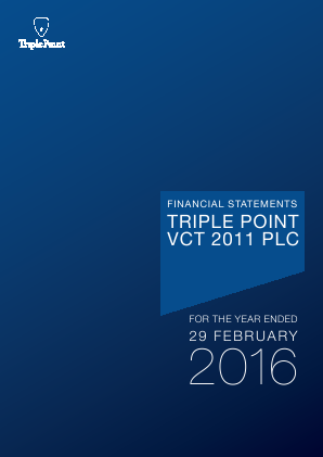 Triple Point VCT 2011 Plc annual report 2016