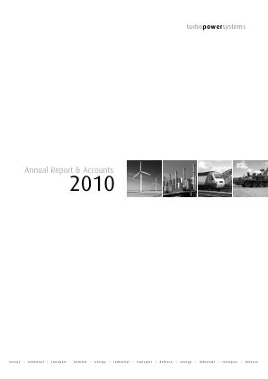 Turbo Power Systems Inc annual report 2010