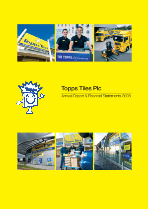 Topps Tiles Plc annual report 2008