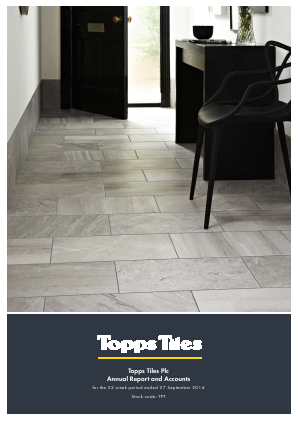 Topps Tiles Plc annual report 2014