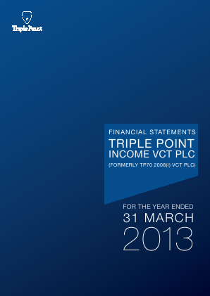 Triple Point Income VCT Plc annual report 2013