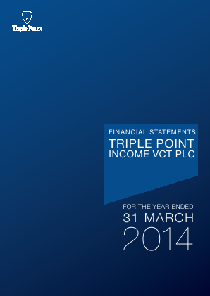 Triple Point Income VCT Plc annual report 2014
