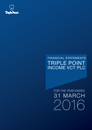 Triple Point Income VCT Plc annual report 2016