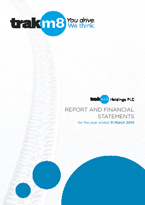Trakm8 Holdings annual report 2014