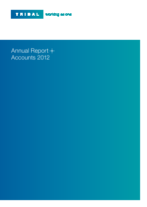 Tribal Group annual report 2012