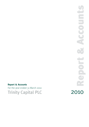 Trinity Capital Plc annual report 2010