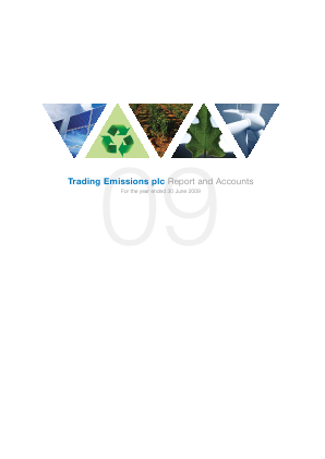 Trading Emissions annual report 2009