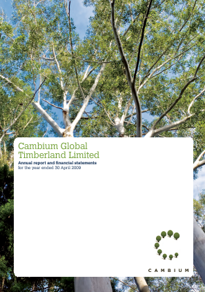 Cambium Global Timberland annual report 2009